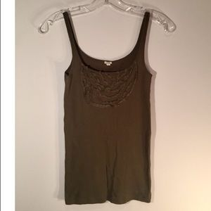 Jcrew tank top with fringe detail